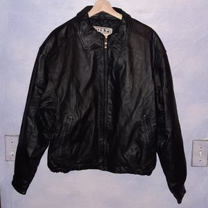 Leather bomber jacket by Wilda